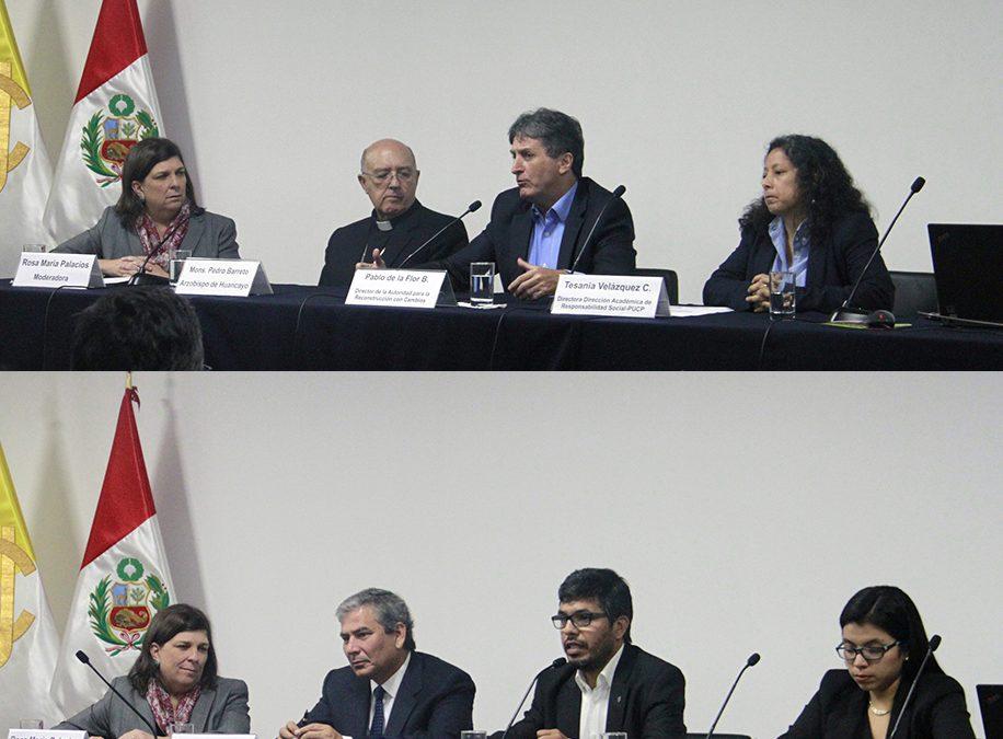 MONS. PEDRO BARRETO SJ Y P. VÍCTOR HUGO MIRANDA SJ PARTICIPARON DE CONFERENCIA SOBRE CAMBIO CLIMÁTICO